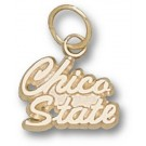 "California State (Chico) Wildcats Script ""Chico State"" 5/16"" Charm - 14KT Gold Jewelry"