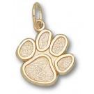"""Clemson Tigers """"Paw"""" 1/2"""" Charm - 14KT Gold Jewelry"""