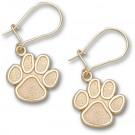 "Clemson Tigers 1/2"" ""Paw"" Dangle Earrings - Gold Plated Jewelry"