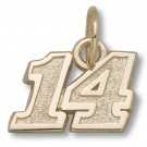 "Tony Stewart #14 5/16"" Small Charm - Gold Plated Jewelry"