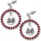 Tony Stewart #14 Spirit Crystal Logo Wreath Earrings by
