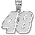 "Jimmie Johnson Giant Driver Number ""48"" 1 1/2"" Pendant - Sterling Silver Jewelry"
