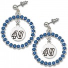 Jimmie Johnson #48 Spirit Crystal Logo Wreath Earrings by