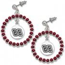 Dale Earnhardt Jr. #88 Spirit Crystal Logo Wreath Earrings by