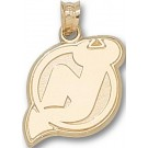 "New Jersey Devils ""NJ Logo"" 5/8"" Pendant - 14KT Gold Jewelry"