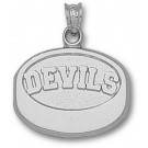 "New Jersey Devils ""Devils Puck"" Pendant - Sterling Silver Jewelry"