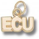 "East Carolina Pirates ""ECU"" 3/16"" Charm - 14KT Gold Jewelry"