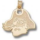 "East Carolina Pirates ""Pirate Head"" 5/8"" Pendant - 14KT Gold Jewelry"
