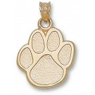 """Eastern Illinois Panthers """"Paw Print"""" Pendant - 10KT Gold Jewelry"""