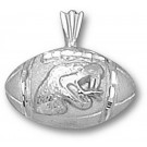 "Florida A & M Rattlers ""Football with Rattler Head"" Pendant - Sterling Silver Jewelry"