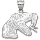 "Florida A & M Rattlers Giant 1 3/4"" W x 1 1/4"" H ""Rattler Head"" Pendant - Sterling Silver Jewelry"