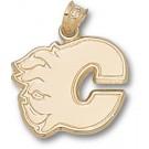 "Calgary Flames ""C Logo"" 5/8"" Pendant - 14KT Gold Jewelry"