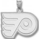 """Philadelphia Flyers """"P Logo"""" 5/8"""" Pendant - Sterling Silver Jewelry"""