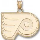 "Philadelphia Flyers ""P Logo"" 5/8"" Pendant - 14KT Gold Jewelry"