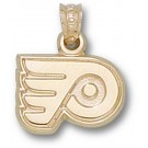 "Philadelphia Flyers ""P Logo"" 3/8"" Pendant - 14KT Gold Jewelry"