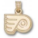 "Philadelphia Flyers ""P Logo"" 3/8"" Pendant - 14KT Gold Jewelry"