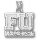 """Fordham Rams """"FU Fordham"""" Pendant - Sterling Silver Jewelry"""