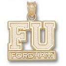 "Fordham Rams ""FU Fordham"" Pendant - 14KT Gold Jewelry"