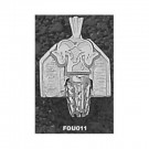 "Fordham Rams ""Ram Basketball Backboard"" Pendant - Sterling Silver Jewelry"