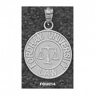 """Fordham Rams """"Law Seal with Scales"""" Pendant - Sterling Silver Jewelry"""