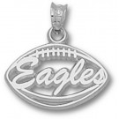 """Georgia Southern Eagles Pierced """"Eagles Football"""" Pendant - Sterling Silver Jewelry"""
