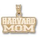 "Harvard Crimson ""Harvard Mom"" Pendant - 14KT Gold Jewelry"