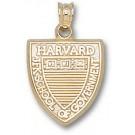 "Harvard Crimson ""JFK School of Government Shield"" Pendant - 14KT Gold Jewelry"