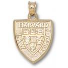 "Harvard Crimson Law School ""Shield"" Pendant - 14KT Gold Jewelry"