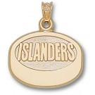 "New York Islanders ""Islanders Puck"" Pendant - 14KT Gold Jewelry"