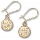 """New York Islanders 3/8"""" Logo Dangle Earrings - 10KT Gold Jewelry"""