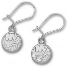 "New York Islanders 3/8"" Logo Dangle Earrings - Sterling Silver Jewelry"