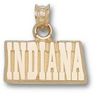 """Indiana Hoosiers """"Indiana"""" 3/8"""" Pendant - 14KT Gold Jewelry"""