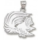 """Jacksonville State Gamecocks """"Gamecock"""" 3/4"""" Pendant - Sterling Silver Jewelry"""