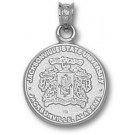 """Jacksonville State Gamecocks """"Crest"""" Pendant - Sterling Silver Jewelry"""