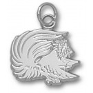 """Jacksonville State Gamecocks """"Gamecock"""" 1/2"""" Charm - Sterling Silver Jewelry"""