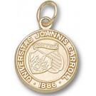 """John Carroll Blue Streaks Small """"Seal"""" Charm - 14KT Gold Jewelry"""