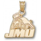 "James Madison Dukes ""JMU Bulldog"" Pendant - Gold Plated Jewelry"
