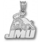 "James Madison Dukes ""JMU Bulldog"" Pendant - Sterling Silver Jewelry"