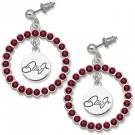 Dale Earnhardt Jr. Nation Spirit Crystal Logo Wreath Earrings by