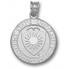 "Kent State Golden Flashes ""Seal"" Pendant - Sterling Silver Jewelry"