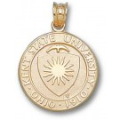 "Kent State Golden Flashes ""Seal"" Pendant - 14KT Gold Jewelry"