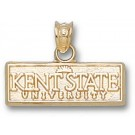 "Kent State Golden Flashes ""Kent State University"" Sun Logo Pendant - 14KT Gold Jewelry"