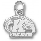 "Kent State Golden Flashes ""Kent State K with Eagle"" Charm - Sterling Silver Jewelry"