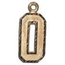 "Large 3/4"" Single Number Diamond Cut Pendant - 14KT Gold Jewelry"