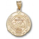 """Liberty Flames """"Seal"""" Pendant - 14KT Gold Jewelry"""