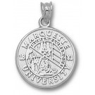 "Marquette Golden Eagles ""Seal"" Pendant - Sterling Silver Jewelry"