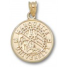 "Marquette Golden Eagles ""Seal"" Pendant - 14KT Gold Jewelry"