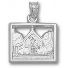 "Marquette Golden Eagles ""Joan of Arc Chapel"" Pendant - Sterling Silver Jewelry"