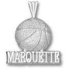 "Marquette Golden Eagles ""Marquette Basketball"" Pendant - Sterling Silver Jewelry"