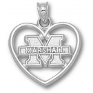 "Marshall Thundering Herd New ""M Marshall"" Heart Pendant - Sterling Silver Jewelry"